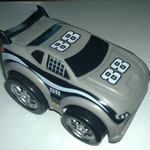 Kid Galaxy Squeezable pull back racers gray car
